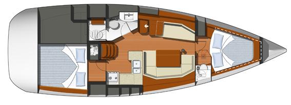 2009 Jeanneau 39i Floorplan