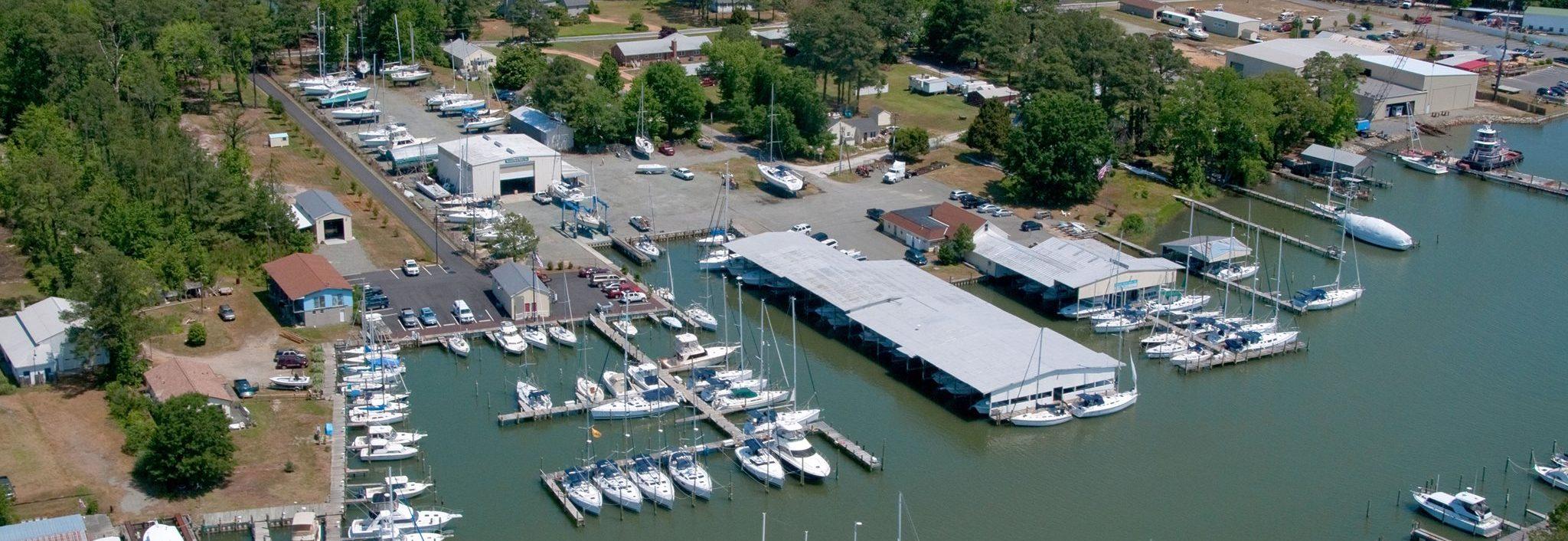 nortons yachts marina aerial