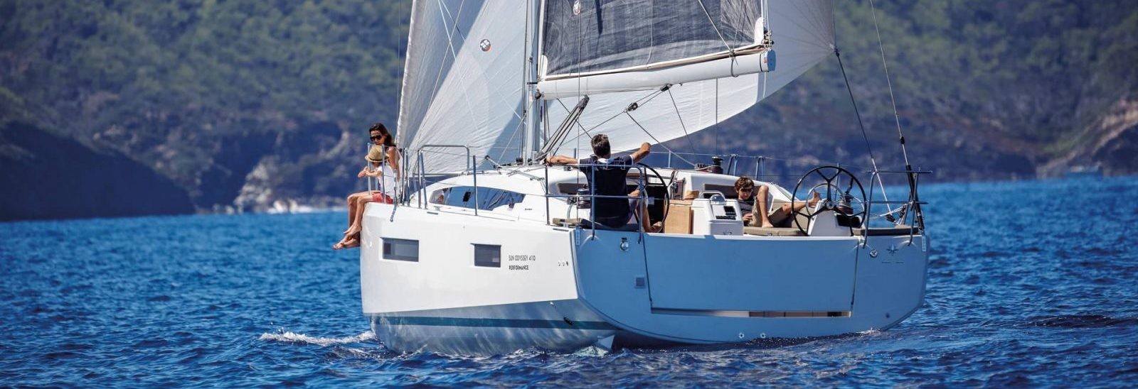 family chartering a sun odyssey 410
