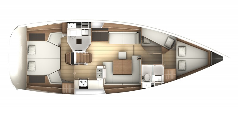 Jeanneau 44 Deck Salon floorplan