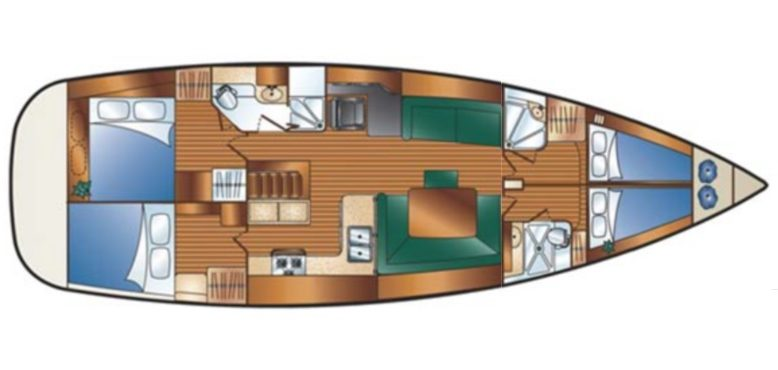 Hunter 49 floorplan