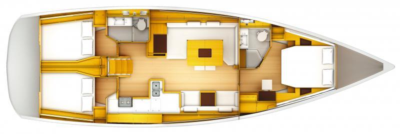 Jeanneau 519 floorplan below